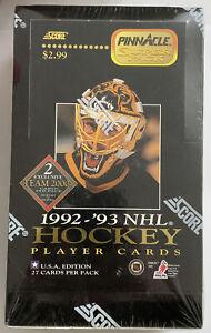 1992-93 Pinnacle Super Pack Hockey Jumbo Hobby Box Factory Sealed - USA Edition