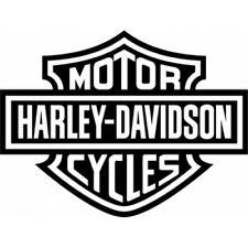 Harley Davidson Cycles kit 2 adesivi logo moto scudetto chopper vinile nero