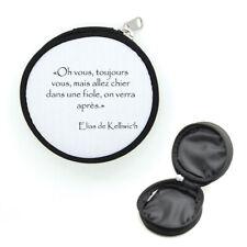 Porte-monnaie rond avec zip Elias Chier dans une fiole citation Kaamelott