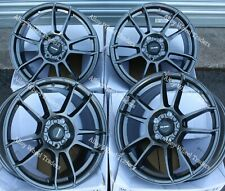 "Alloy Wheels 15"" X5 For Toyota Aygo Corolla Mr2 Starlet Yaris 4x100 Grey"