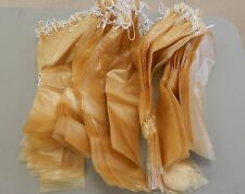 Fibrous casings for sausage. Size 2 x 18 in tied,100 pc in package, clear casing