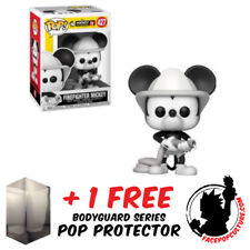 FUNKO POP DISNEY MICKEY MOUSE 90th ANN FIREFIGHTER MICKEY + FREE POP PROTECTOR