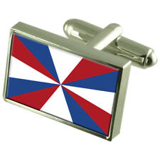Royal Netherlands Navy Ensign Militairy Holland Flag Cufflinks Engraved Box