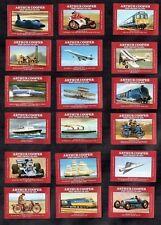 Speed Full 18 Match Label Stamp Card Set Transport Racing Car Train Bluebird
