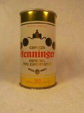 Henninger Cerveza Straight Steel Old Beer Can