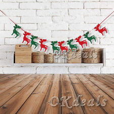 MERRY CHRISTMAS XMAS 10 ELKS BANNER GARLAND HANGING BUNTING DECORATIONS DIY