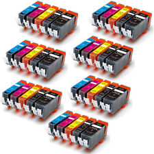 35 PK New Ink Set + Chip for PGI-5BK CLI-8 Canon MP500 MP530 MP600 MP610 MP800