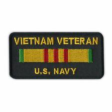"Patch, Embroidered, Vietnam Veteran U.S. Navy, 4"" x 2"""