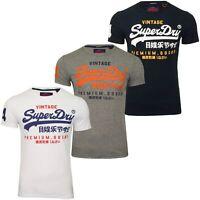 Superdry Mens Crew Neck T-Shirt 'Premium Goods Duo Lite Tee' - Short Sleeved
