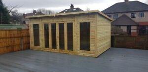14x6 summerhouse garden room shed hot tub workshop cabin office bi folding doors