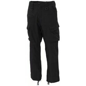 Pantaloni uomo militari sicurezza lavoro invernali Soft Shell nero tattico 01765