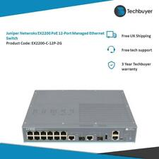 JUNIPER NETWORKS EX2200 POE 12-PORT POE MANAGED ETHERNET SWITCH - EX2200-C-12P-2