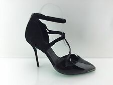 CJG 'Up All Night' Women's Black Patent Leather/suede Heels 6.5