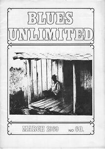 Blues Unlimited No 60, March 1969; Howlin' Wolf, Lazy Bill Lucas, etc.