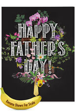 J2358FFGG Jumbo Father's Day Grandpa Card: Chalk And Roses ft. Father's Day Wish