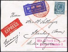 1924 10d EXRESS German Airmail to Bavaria Germany