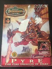 Pyre Red fire Dragon of Dare figure from Mystic Knights of Tir Na Nog NISB