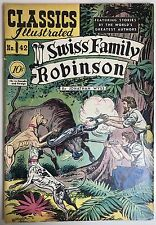 1947 CLASSICS ILLUSTRATED NO 42 SWISS FAMILY ROBINSON JONATHAN WYSS COMIC BOOK