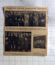 1925 Unveiling Ceremony Memorial Tablet Gloucester Teachers, Price Memorial Hall