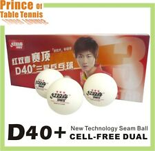 10x DHS D40+ 3 star Table Tennis Balls - Cell-Free Dual