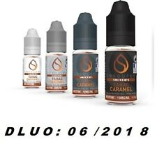 Lot de 4 e liquide de 10 ml TABAC CARAMEL - SAVOUREA-  France- 6 mg-DLUO:06/2018