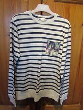 Boys Grey/Navy Striped  Sweatshirt 11yrs H&M