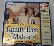 Broderbund Family Tree Maker Version 6 Deluxe 15 Disc Set Win95-Win98