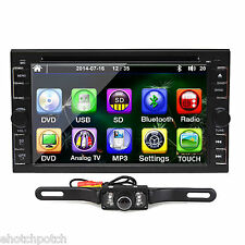 """CAR STEREO 2DIN HD 6.2"""" CAR DVD PLAYER RADIO IPOD BLUETOOTH TOUCH SCREEN+CAMERA"""
