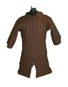 Winter Wear Brown Medieval Gambeson Dress Padded Armor SCA LARP Multiple Size