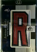 """2011-12 SP Game Used Nicklas Backstrom Letter Marks """"R"""" Autograph 39/50 Capitals"""