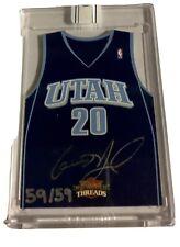 New listing /59 2010-2011 AUTO Panini Threads Basketball - Gordon Hayward - Utah Jazz