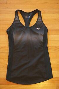 Mizuno Running Athletic Fitness Workout Tank Top Black Grey Women's Size M