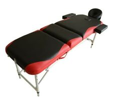 Light Weight Portable Massage Table Couch Bed Aluminum Red