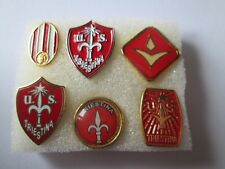 j2 lotto 6 pins lot TRIESTINA FC club spilla football calcio futbol pins spille