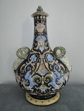 RARE Grand vase gourde en céramique de DESVRES Fourmaintraux Frères