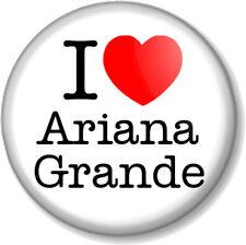 "I Love / Heart Ariana Grande 25mm 1"" Pin Button Badge Singer Pop Star R&B Music"