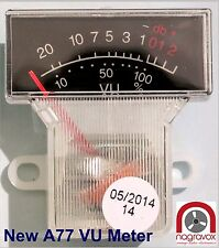 Revox A77 VU meters - newly manufactured and improved. A77 mk1 mk2.