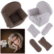 Newborn Baby 2 Cushions Sofa Seat Photo Props Studio Photography Backdrop Decor