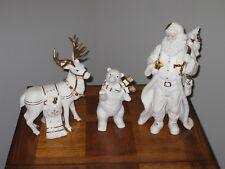 3 Piece Porcelain Figurine Set - Grandeur Noel - Pre-Owned  1999