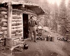 Pike's Peak gold prospector St. Peter's CO mountain log cabin camp stove photo
