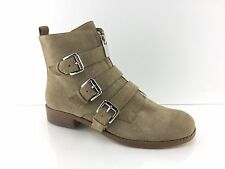 Michael Kors Womens Stone Beige Leather Ankle Boots 7.5 M