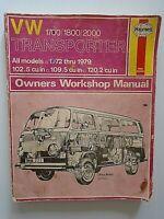 V W  1700 / 1800 / 2000 Transporter Owners Workshop Manual models 1972 thru 1979