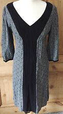 Ladies NOA NOA Black Grey Tunic Dress. Boho. Small (UK 10 12). Arty. Viscose