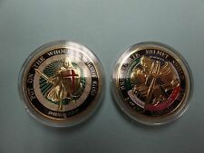 CHALLENGE COIN FREE CAPSULE SHIPPING PUT ON THE WHOLE ARMOR OF GOD SHIELD SWORD