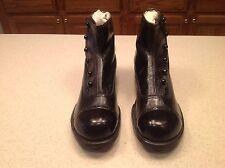 Vintage Antique High Quality Men's Black Button Shoes Leather Size 5 EE VGUC