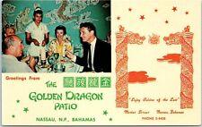 "Nassau, BAHAMAS Postcard ""The Golden Dragon Patio"" Chinese Restaurant c1950s"