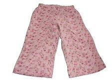 TOPOLINO FANTASTICI PANTALONI CAPRI TG 116 rosa con motivo floreale!!!