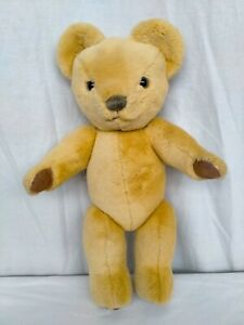 """MERRYTHOUGHT 18"""" FULLY JOINTED YELLOW GOLD TEDDY BEAR GOOD CONDITION"""