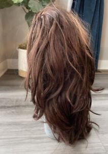 Adel Rootstein Vintage Hard Cap Mannequin Wig Long Layered Brown