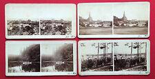 4 alte Stereo Foto um 1900 MISDROY an der Ostsee   ( F14849
